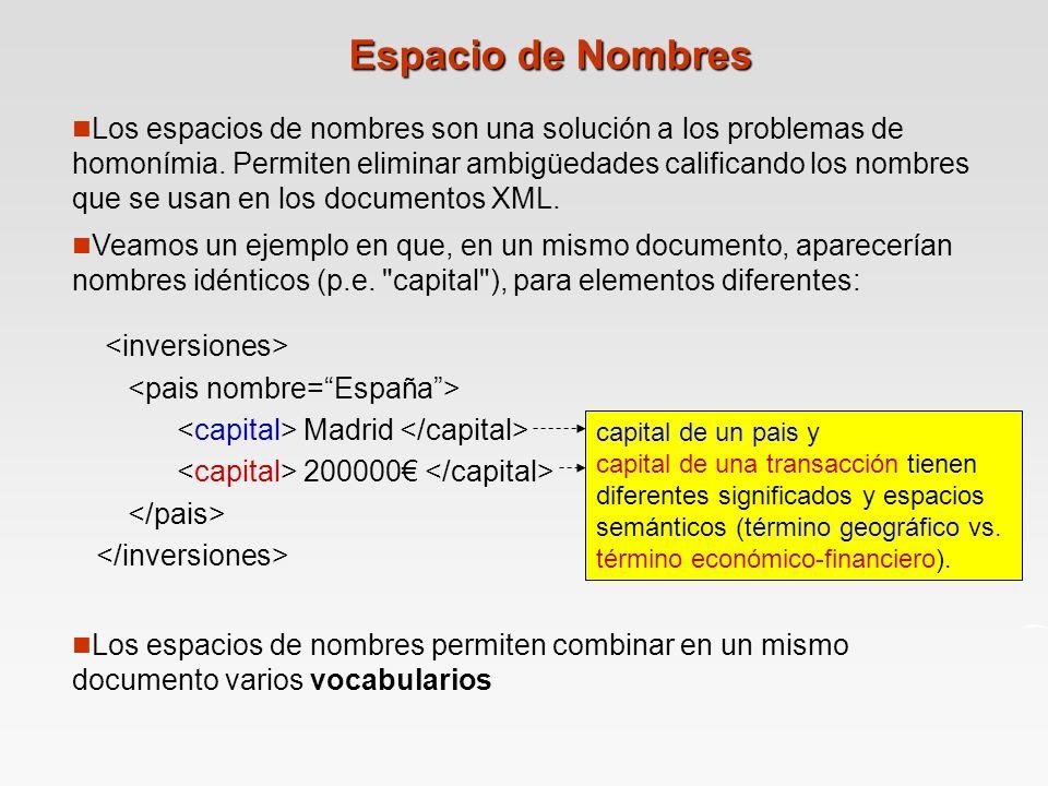 Espacio de Nombres capital de un pais y capital de una transacción tienen diferentes significados y espacios semánticos (término geográfico vs.
