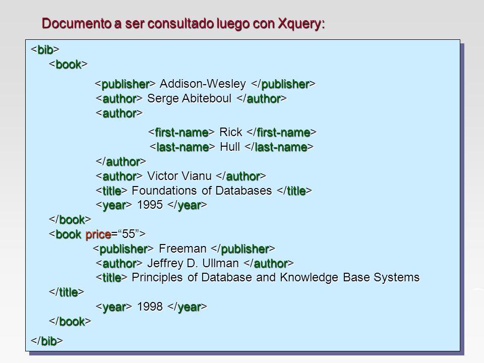Addison-Wesley Serge Abiteboul Addison-Wesley Serge Abiteboul Rick Hull Victor Vianu Foundations of Databases 1995 Freeman Jeffrey D.
