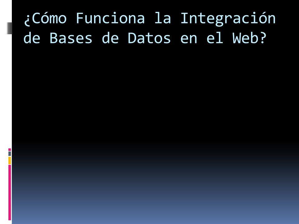¿Cómo Funciona la Integración de Bases de Datos en el Web?