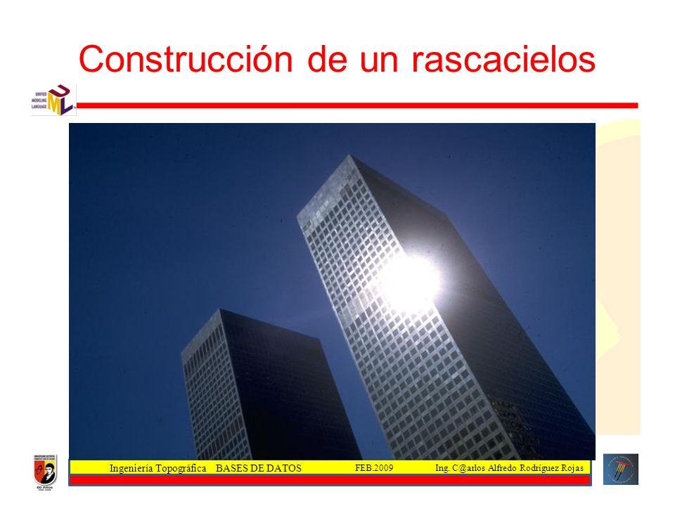 Ingeniería Topográfica BASES DE DATOS Ing. C@arlos Alfredo Rodríguez RojasFEB.2009 Construcción de un rascacielos
