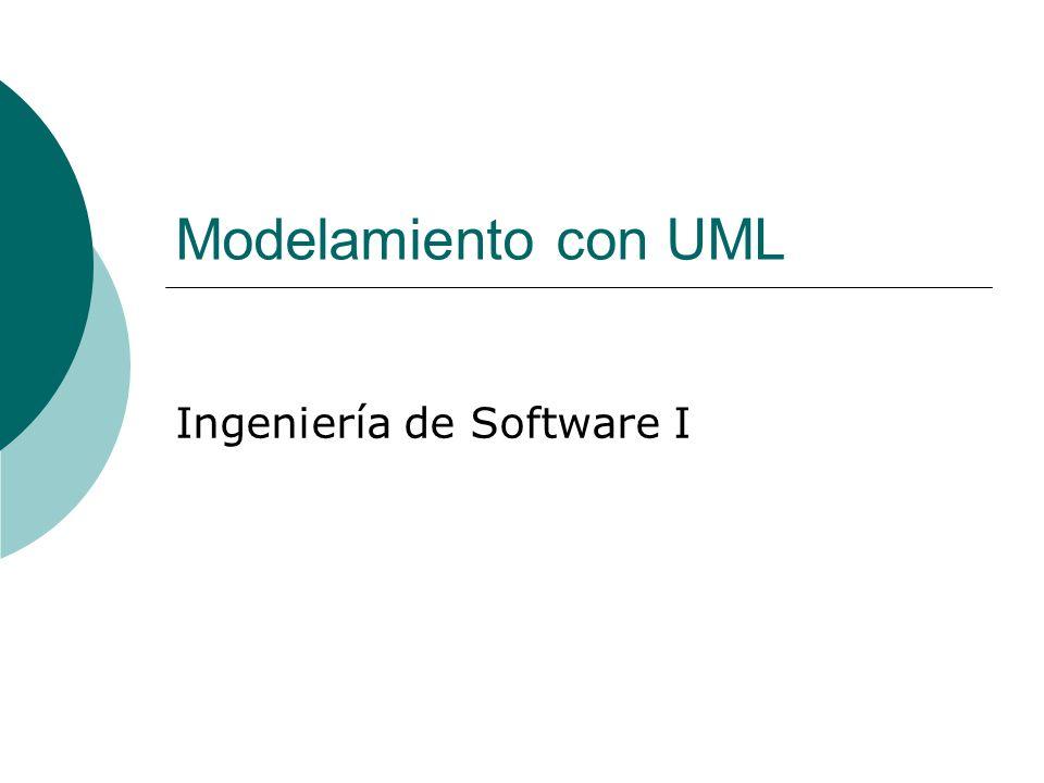 Modelamiento con UML Ingeniería de Software I