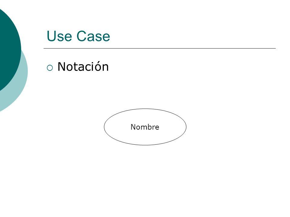 Use Case Notación Nombre