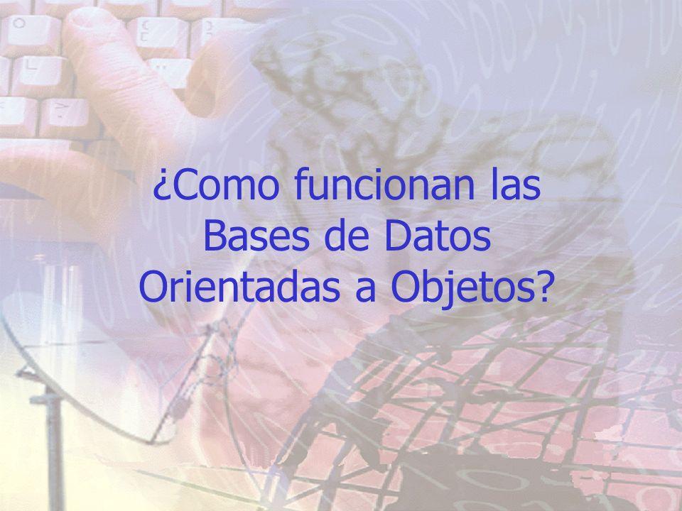 ¿Como funcionan las Bases de Datos Orientadas a Objetos?
