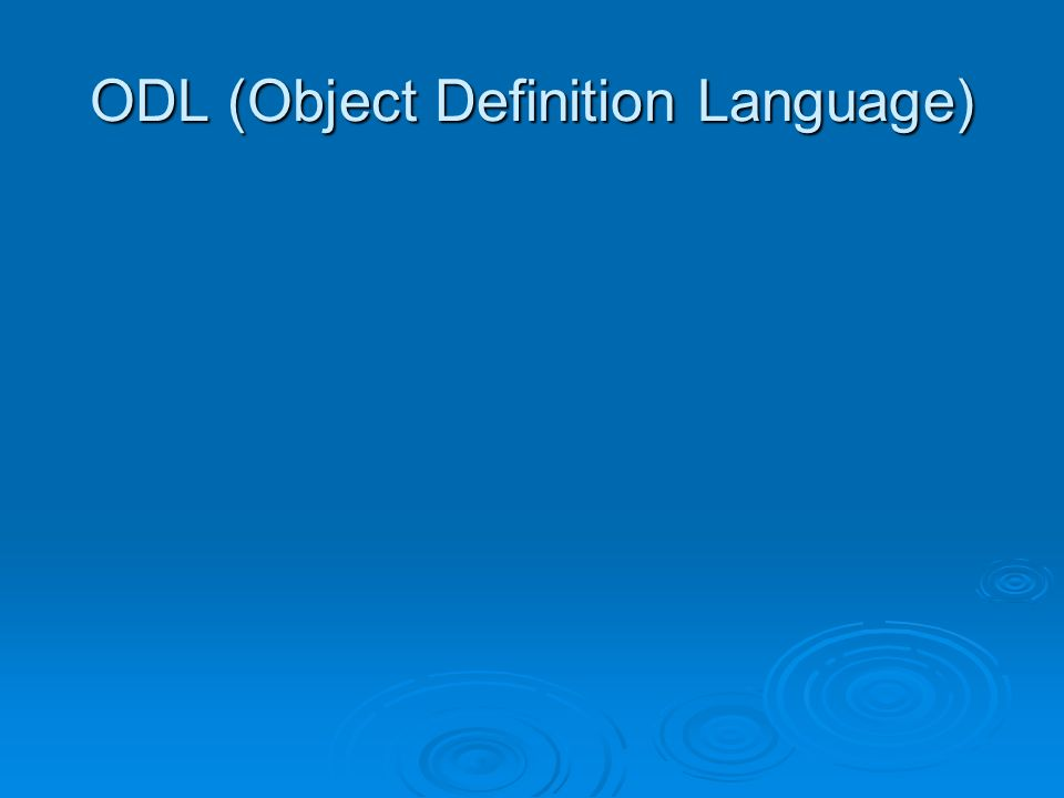 OQL (Object Query Language)