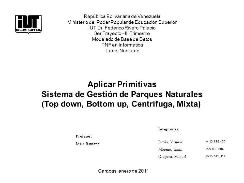 República Bolivariana de Venezuela Ministerio del Poder Popular de Educación Superior IUT Dr. Federico Rivero Palacio 3er Trayecto –III Trimestre Mode