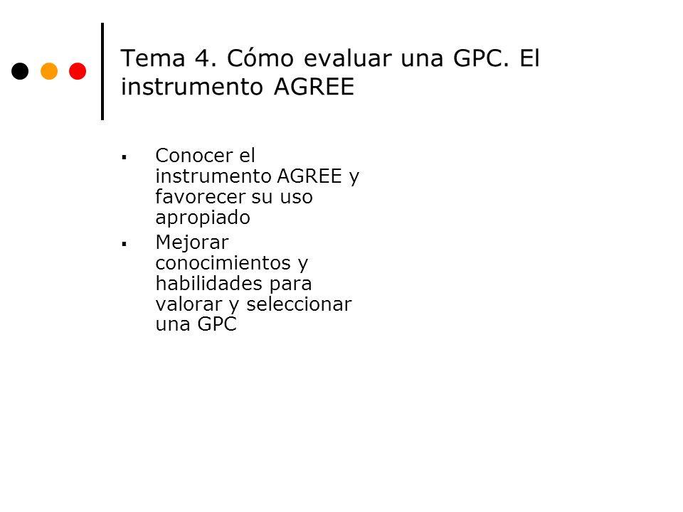 Tema 4.Cómo evaluar una GPC.