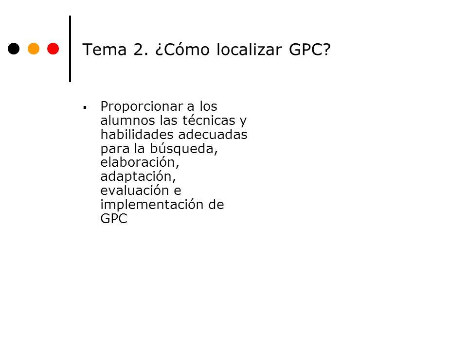 Tema 2.¿Cómo localizar GPC.