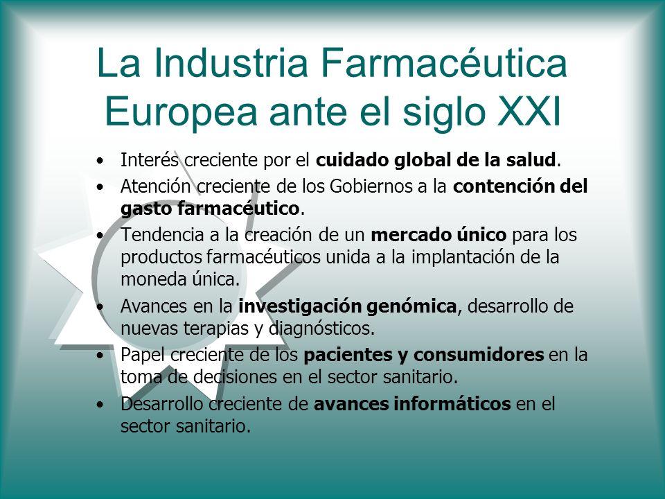 La Industria Farmacéutica Europea ante el siglo XXI Interés creciente por el cuidado global de la salud. Atención creciente de los Gobiernos a la cont