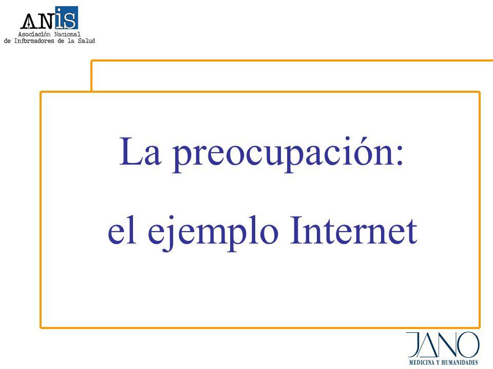 La preocupación: el ejemplo Internet