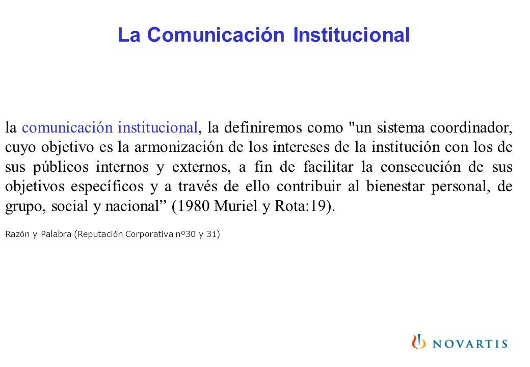 La Comunicación Institucional la comunicación institucional, la definiremos como