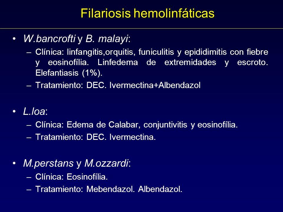 Filariosis hemolinfáticas W.bancrofti y B.
