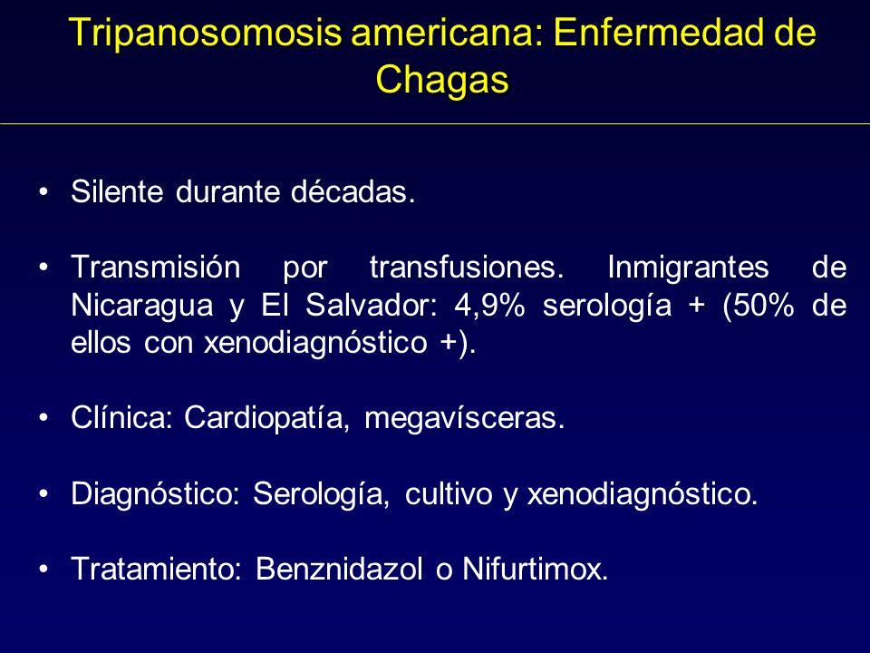 Tripanosomosis americana: Enfermedad de Chagas Silente durante décadas.