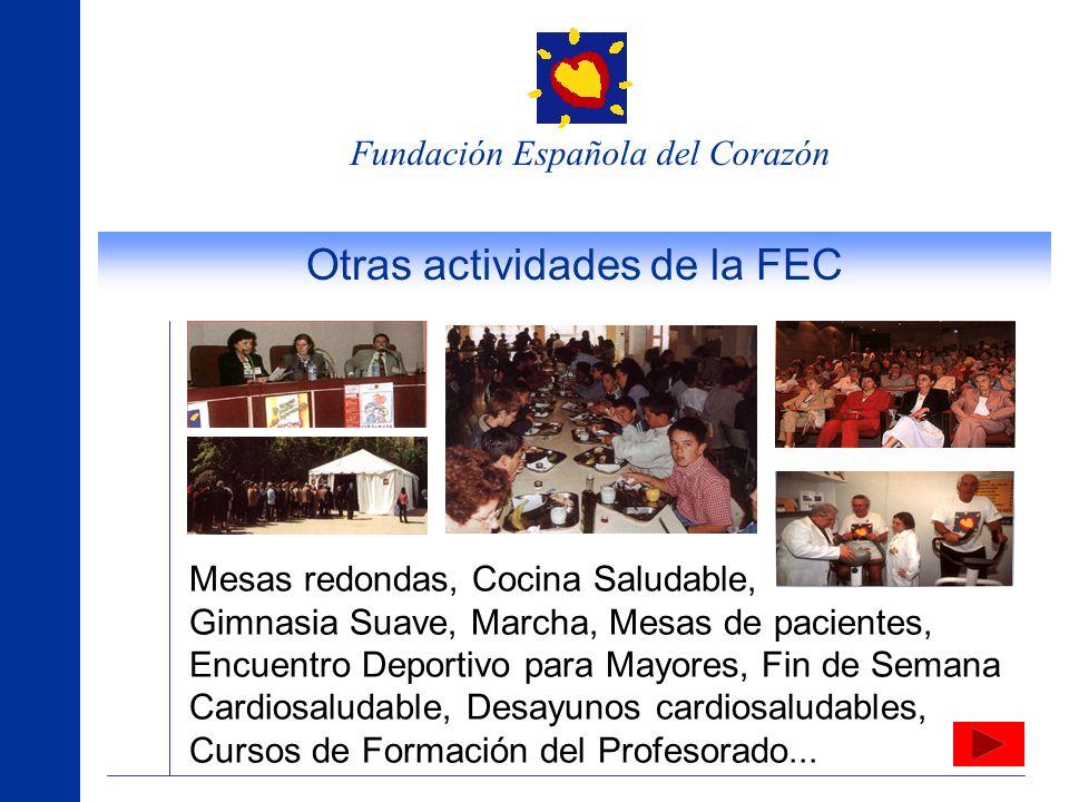 Fundación Española del Corazón Actividades de la FEC de carácter nacional Semana del Corazón En ella es posible recibir información sobre las enfermed