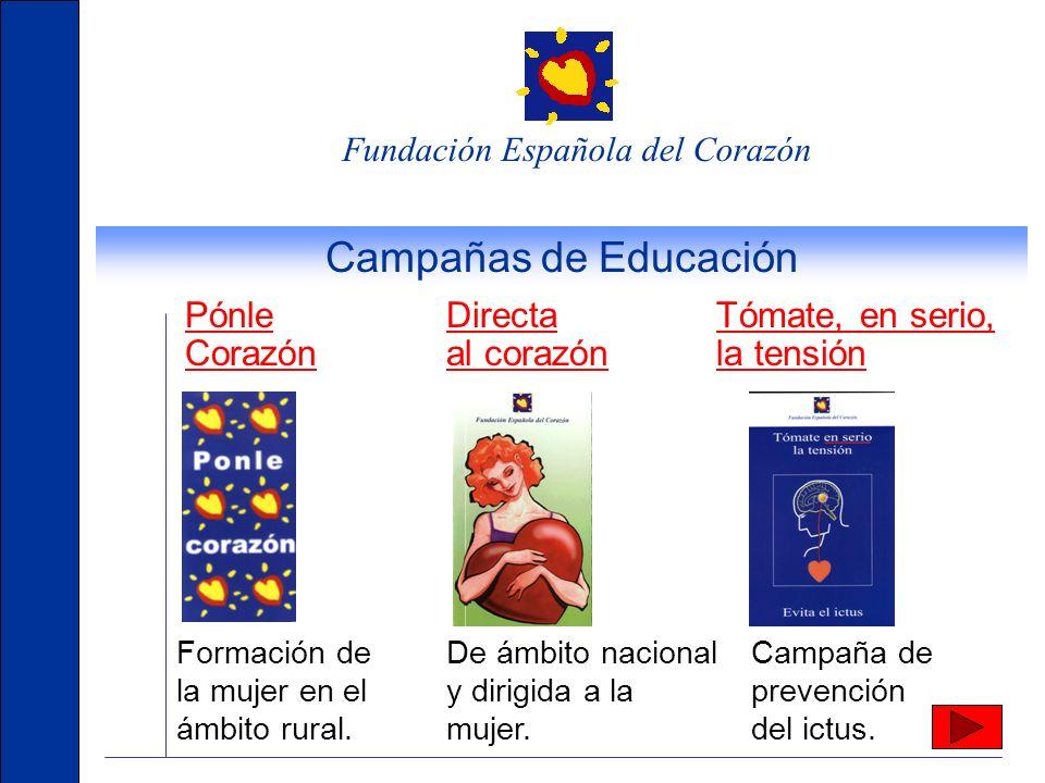 Fundación Española del Corazón Otras actividades de la FEC Mesas redondas, Cocina Saludable, Gimnasia Suave, Marcha, Mesas de pacientes, Encuentro Dep