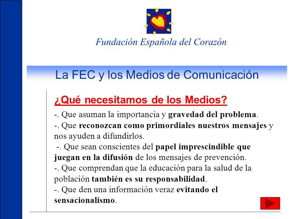 Fundación Española del Corazón www.fundaciondelcorazon.com El sitio de referencia por calidad y procedencia de su información: los propios cardiólogos