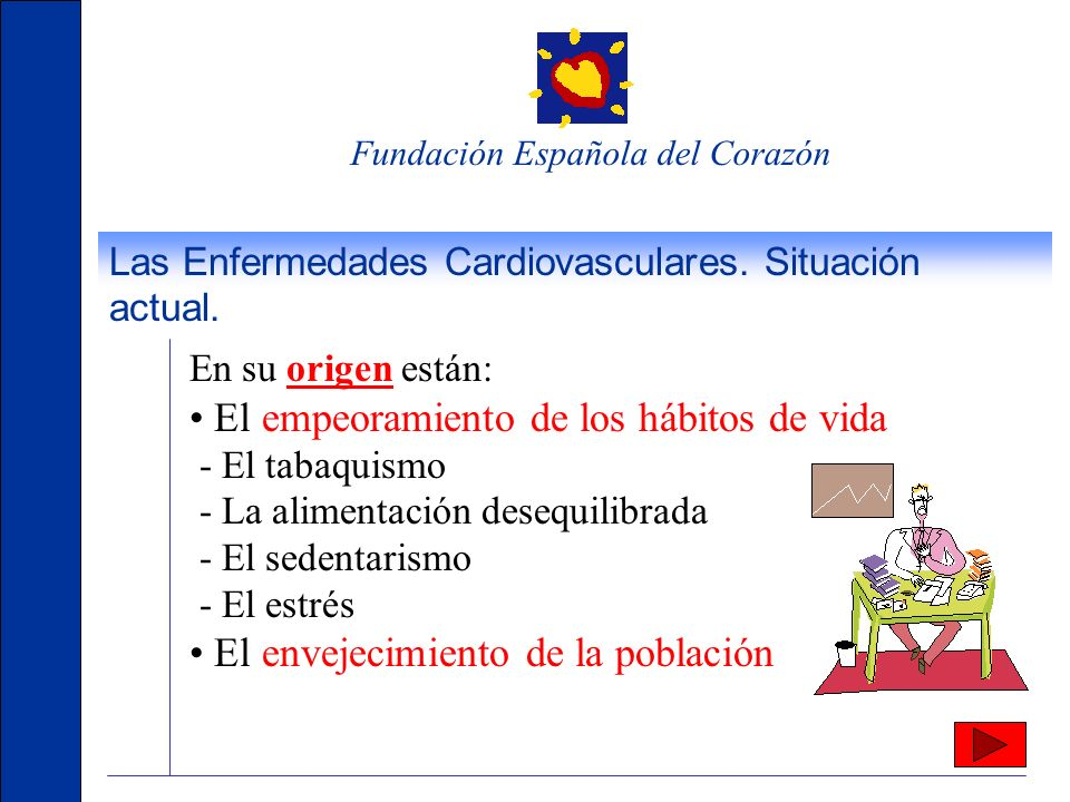 Fundación Española del Corazón Las Enfermedades Cardiovasculares. Situación actual. Las enfermedades cardiovasculares son un problema de Salud Pública