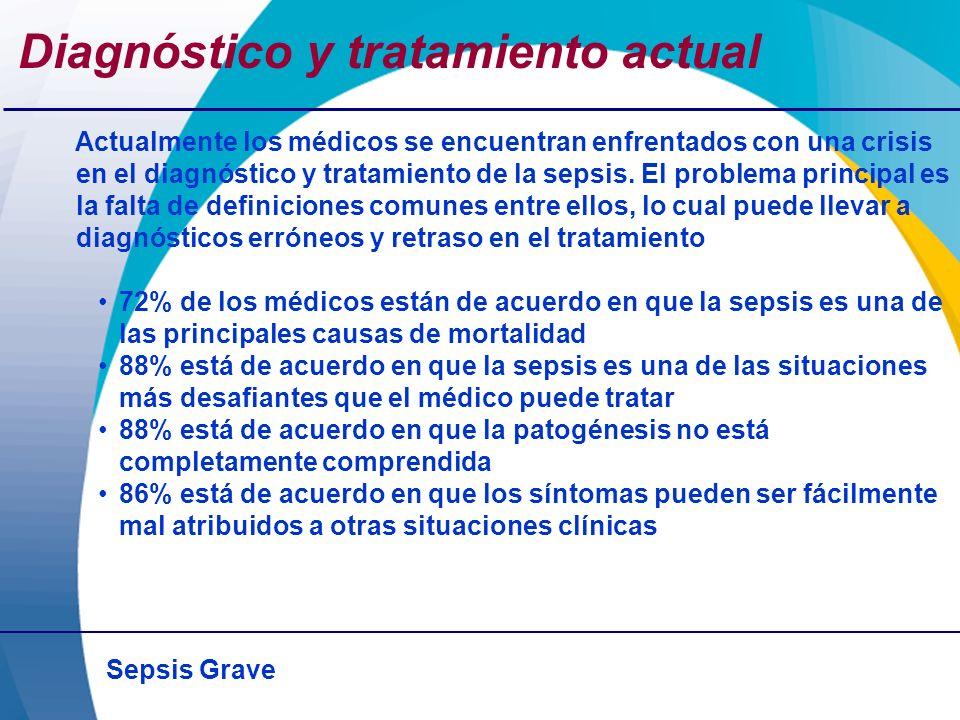 Sepsis Grave Diagnóstico y tratamiento actual Actualmente los médicos se encuentran enfrentados con una crisis en el diagnóstico y tratamiento de la s