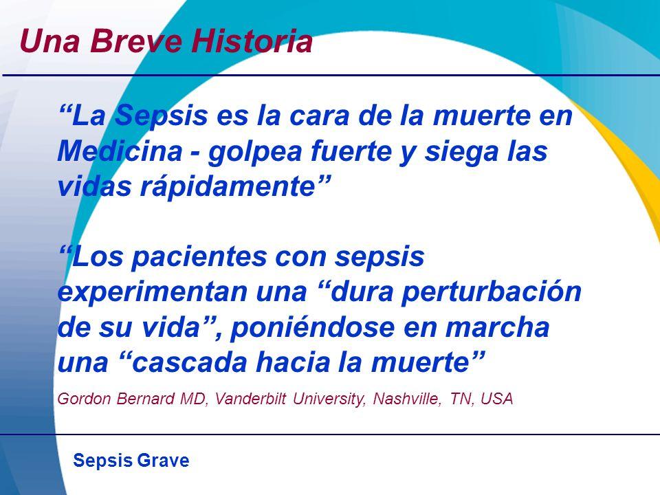 Sepsis Grave Coagulopatía en la Sepsis – = sin cambio.