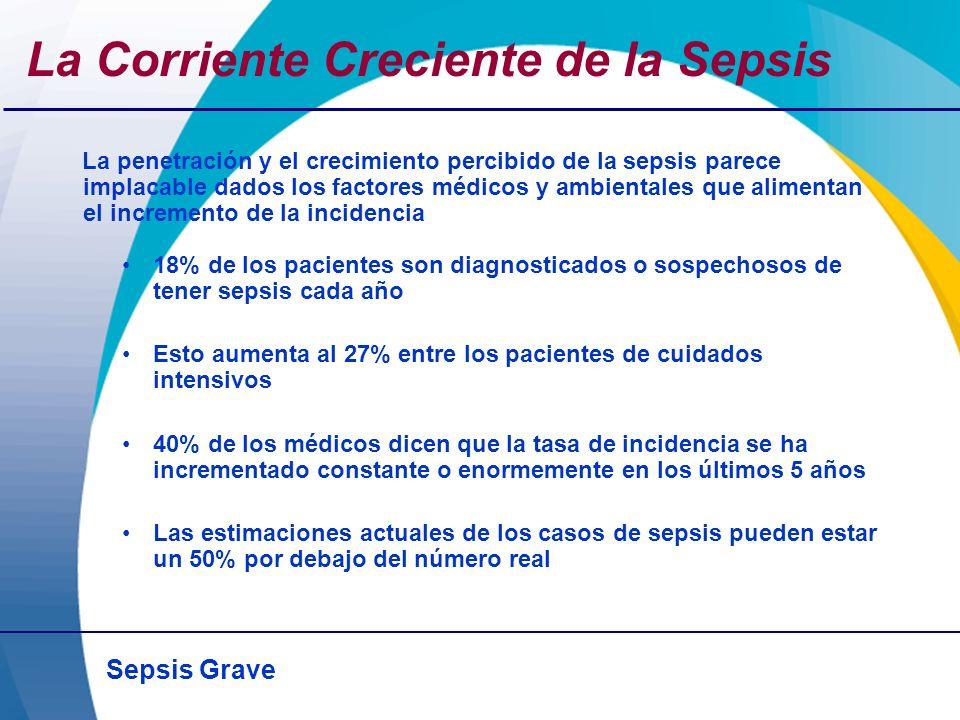 Sepsis Grave La Corriente Creciente de la Sepsis La penetración y el crecimiento percibido de la sepsis parece implacable dados los factores médicos y