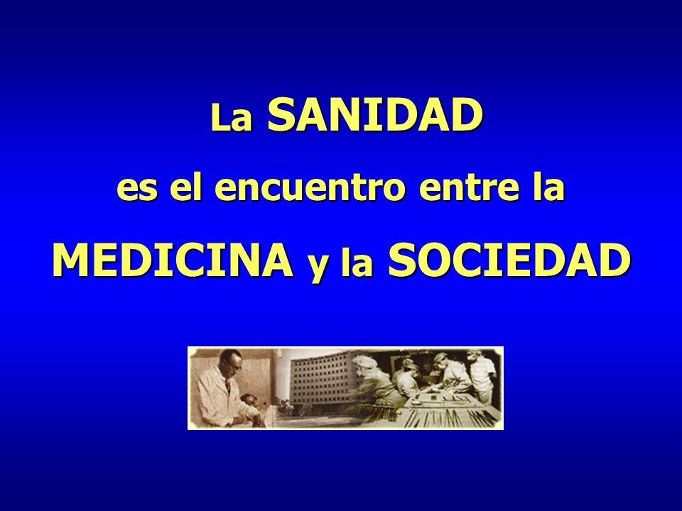 La SANIDAD La SANIDAD es el encuentro entre la MEDICINA y la SOCIEDAD