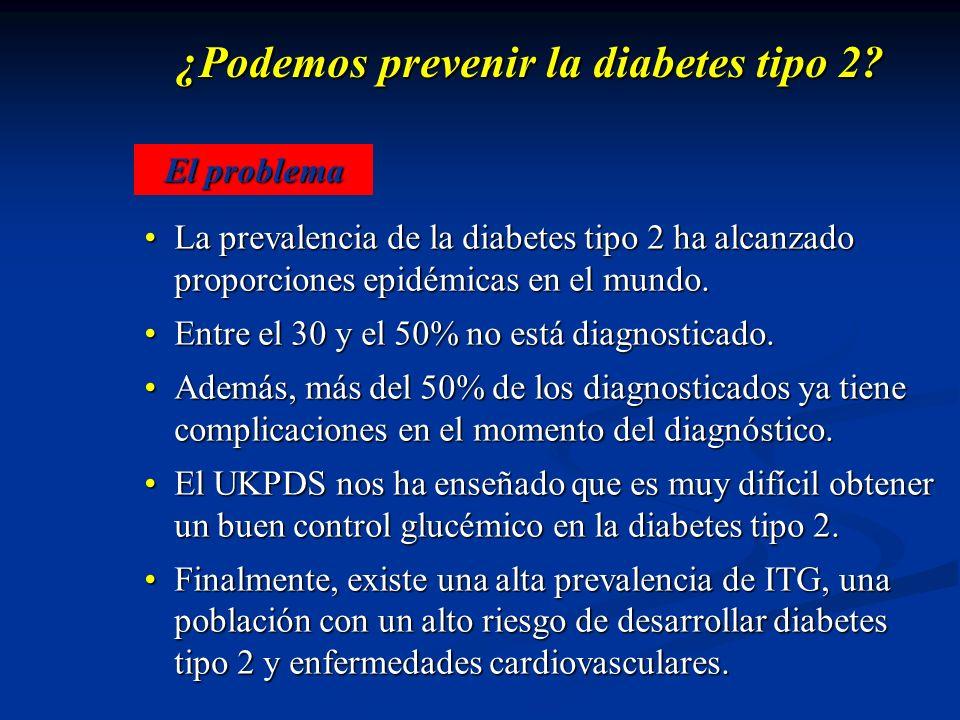 ¿Podemos prevenir la diabetes tipo 2? La prevalencia de la diabetes tipo 2 ha alcanzado proporciones epidémicas en el mundo.La prevalencia de la diabe