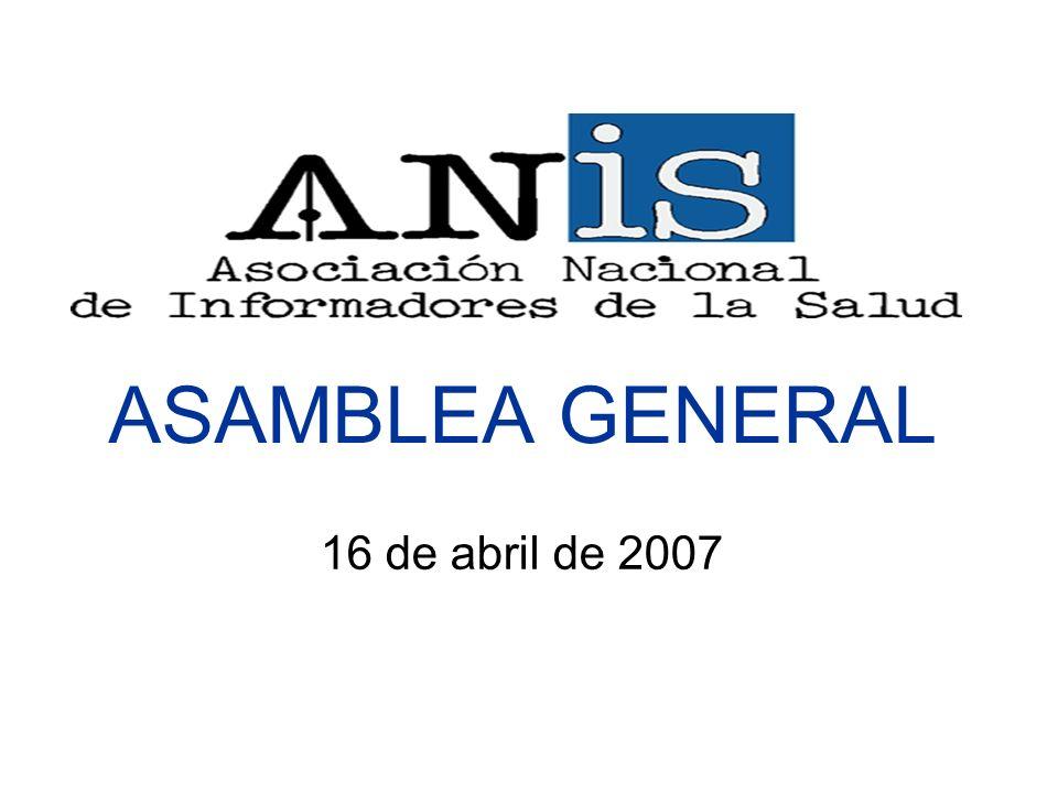 ASAMBLEA GENERAL 16 de abril de 2007