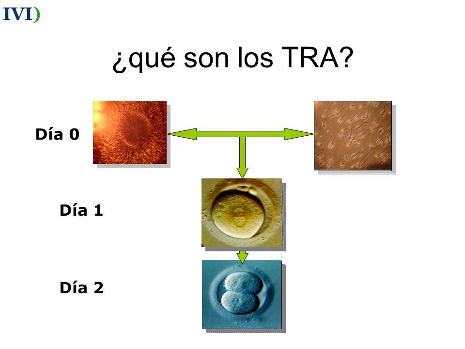 ¿qué son los TRA? Día 0 Día 1 Día 2 IVI)