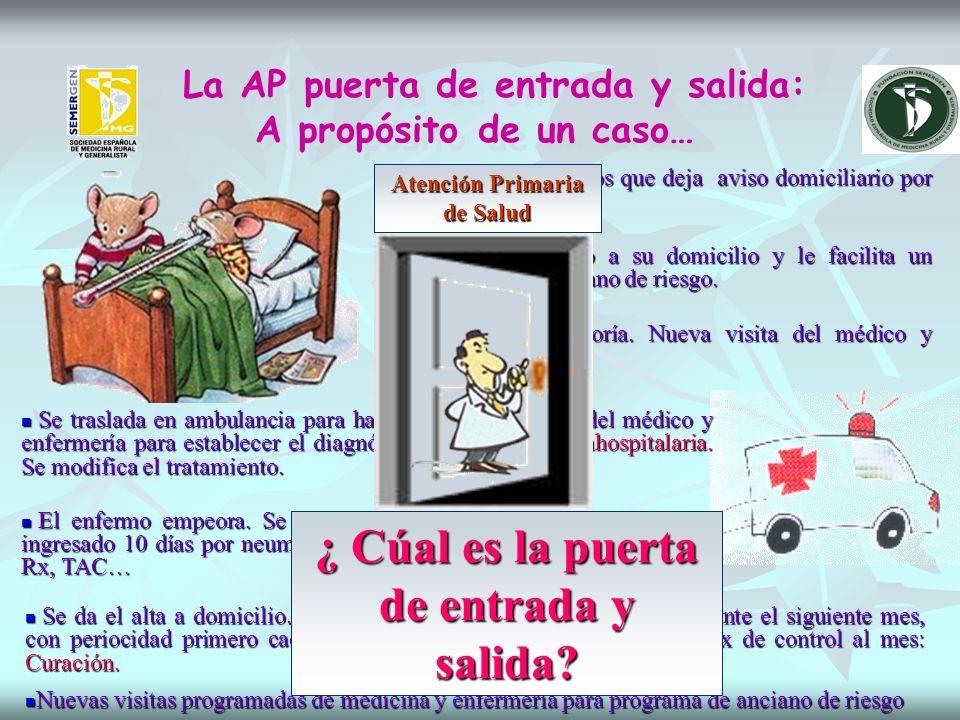 La AP puerta de entrada y salida: A propósito de un caso… Enfermo de 85 años que deja aviso domiciliario por fiebre.