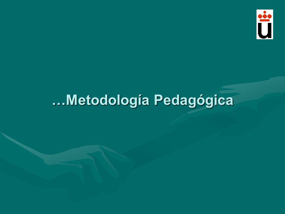 …Metodología Pedagógica