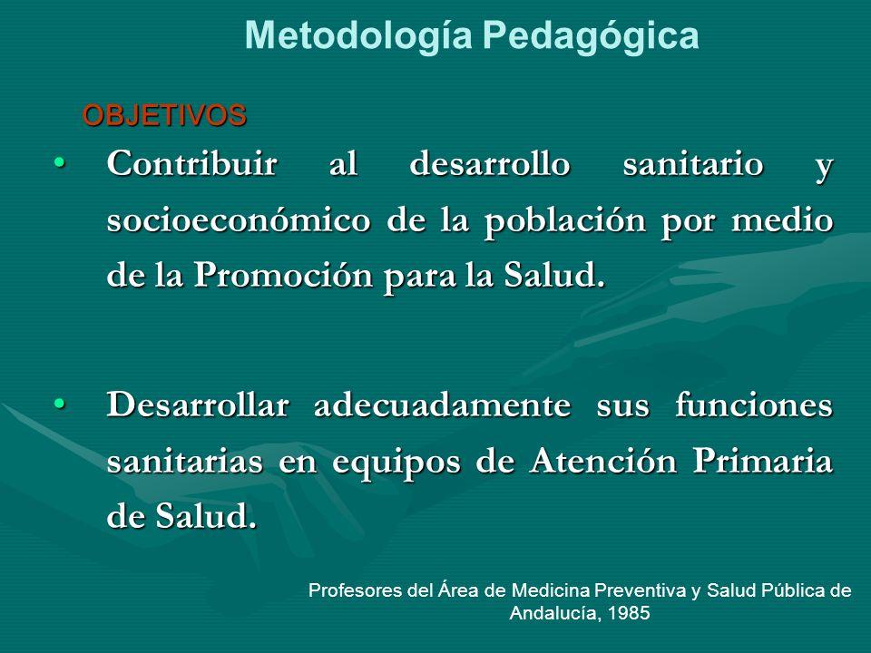 Contribuir al desarrollo sanitario y socioeconómico de la población por medio de la Promoción para la Salud.Contribuir al desarrollo sanitario y socio