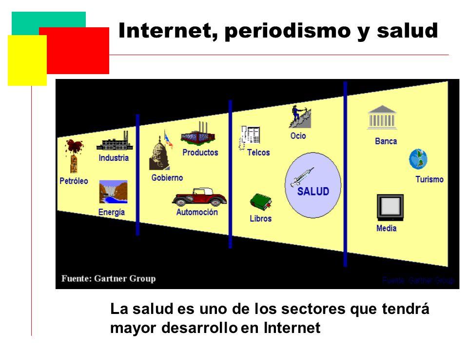 Internet, periodismo y salud La salud es uno de los sectores que tendrá mayor desarrollo en Internet