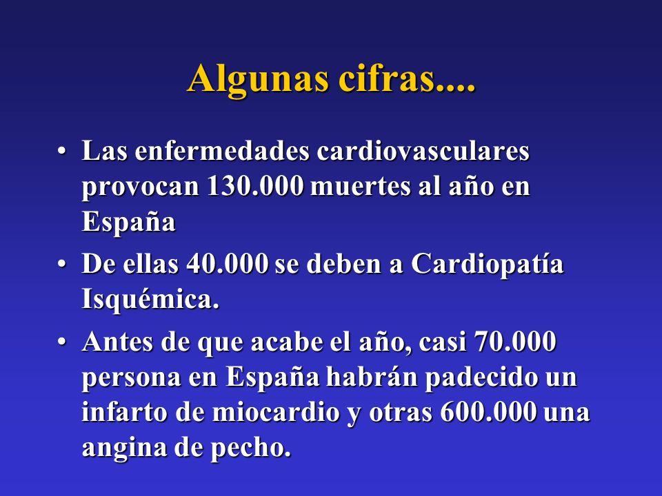 Algunas cifras.... Las enfermedades cardiovasculares provocan 130.000 muertes al año en EspañaLas enfermedades cardiovasculares provocan 130.000 muert