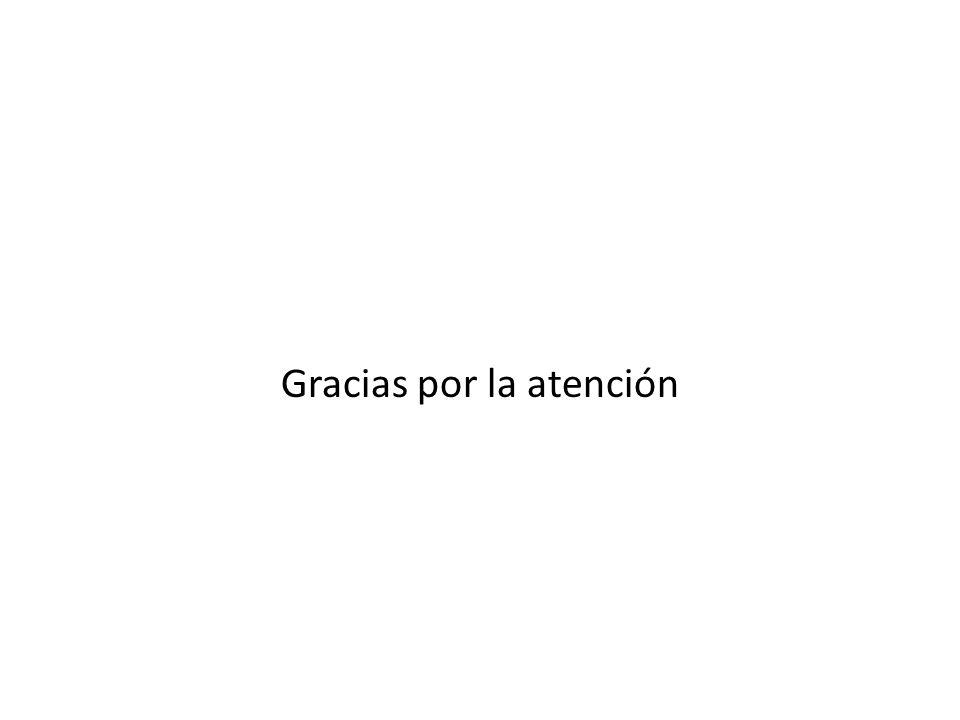 Gracias por la atención