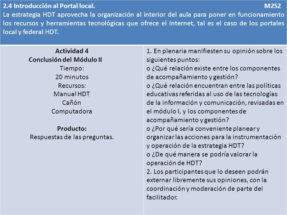2.4 Introducción al Portal local.