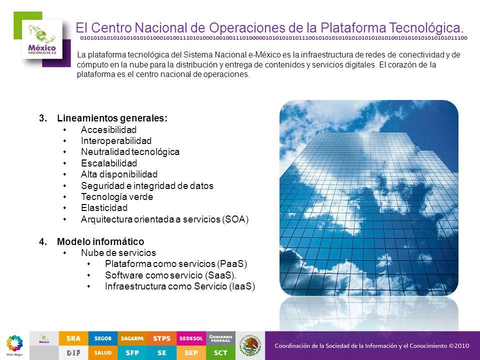 3.Lineamientos generales: Accesibilidad Interoperabilidad Neutralidad tecnológica Escalabilidad Alta disponibilidad Seguridad e integridad de datos Te