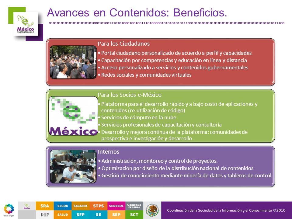 Para los Ciudadanos Portal ciudadano personalizado de acuerdo a perfil y capacidades Capacitación por competencias y educación en línea y distancia Ac