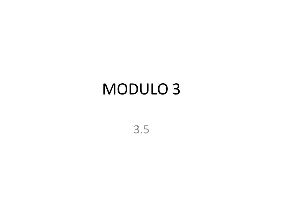 MODULO 3 3.5