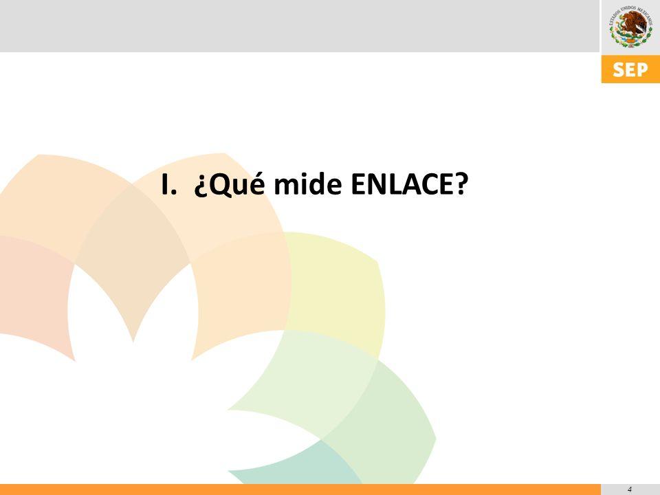 4 I.¿Qué mide ENLACE