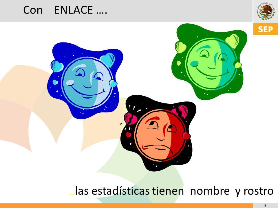 6 … las estadísticas tienen nombre y rostro Con ENLACE ….