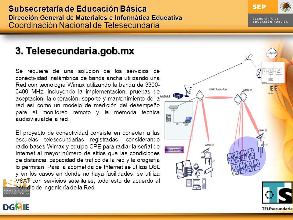 Subsecretaría de Educación Básica Dirección General de Materiales e Informática Educativa 3. Telesecundaria.gob.mx Se requiere de una solución de los
