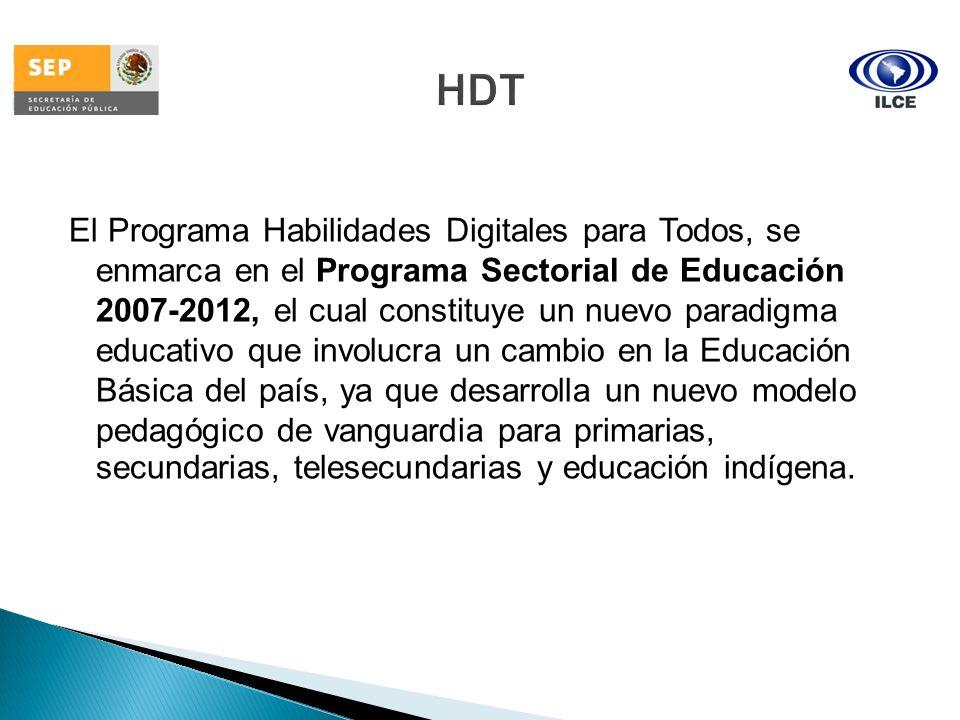 El Programa Habilidades Digitales para Todos, se enmarca en el Programa Sectorial de Educación 2007-2012, el cual constituye un nuevo paradigma educat