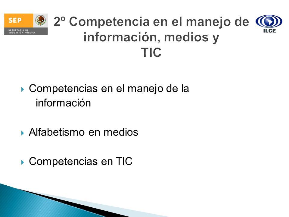 Competencias en el manejo de la información Alfabetismo en medios Competencias en TIC