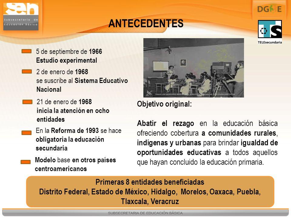 5 de septiembre de 1966 Estudio experimental 2 de enero de 1968 se suscribe al Sistema Educativo Nacional 21 de enero de 1968 inicia la atención en oc
