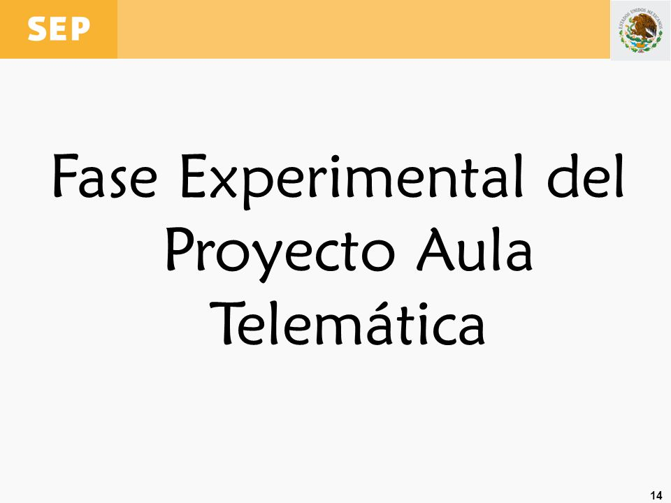14 Fase Experimental del Proyecto Aula Telemática