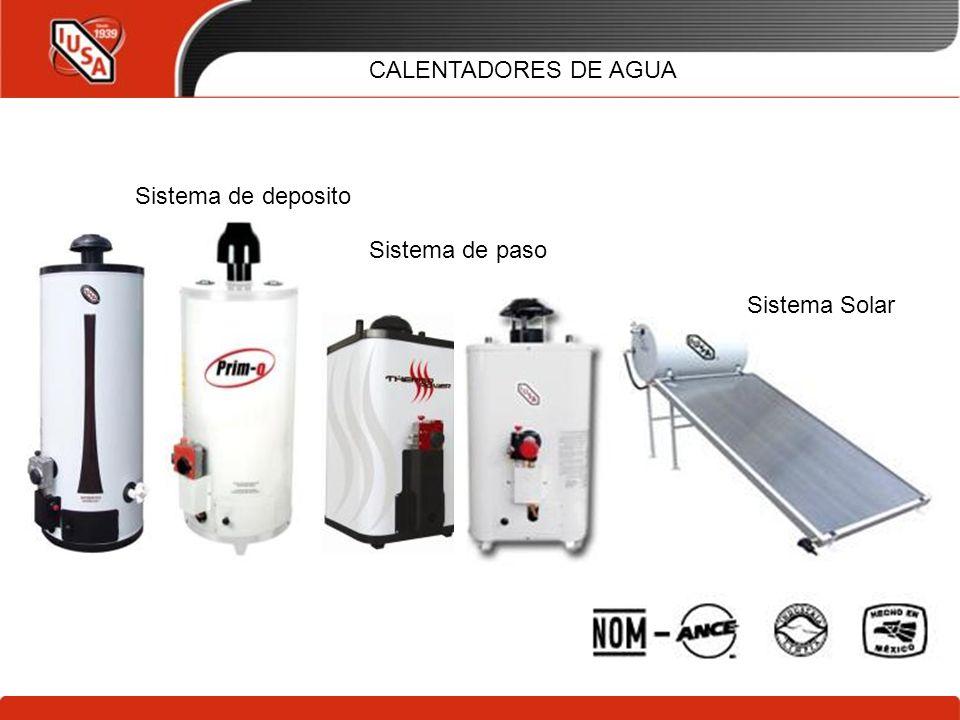 10/02/2014 CALENTADORES DE AGUA Sistema de deposito Sistema de paso Sistema Solar