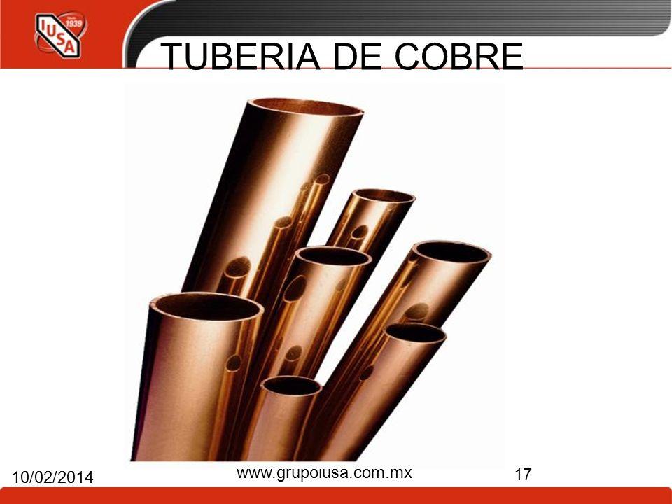 TUBERIA DE COBRE 17 10/02/2014 www.grupoiusa.com.mx