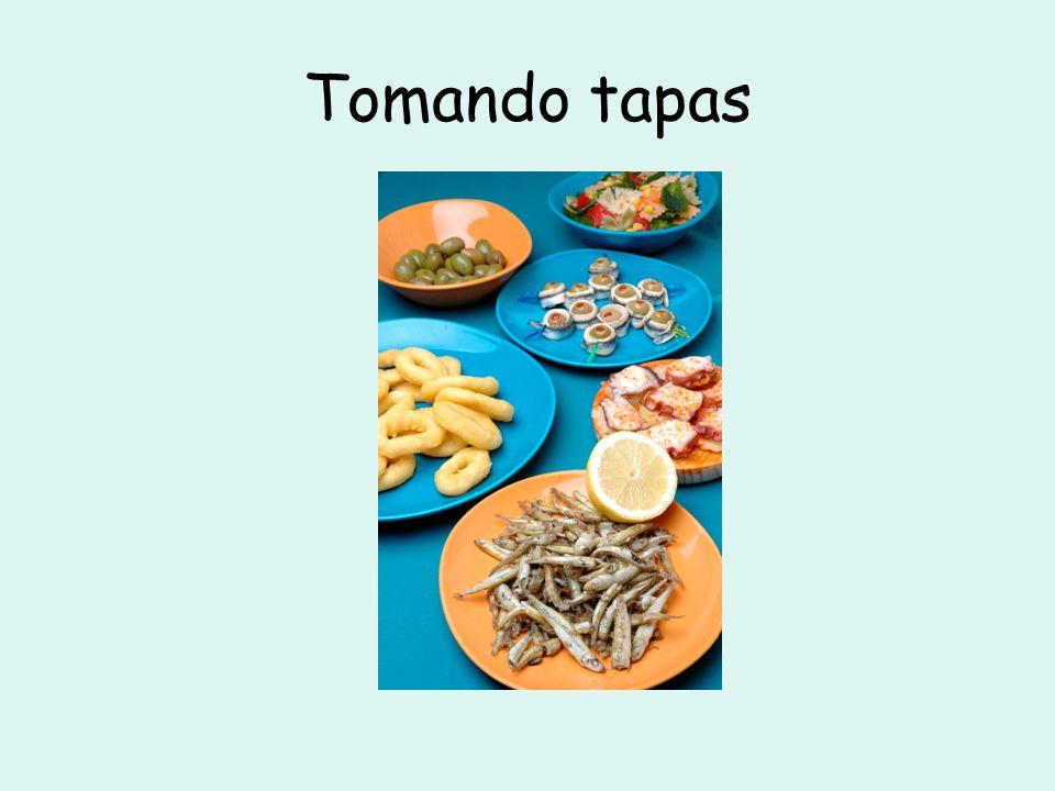 La carta De primer plato: De segundo plato: De postre: Pan con ajo Gazpacho Pastel de chocolate Sopa Champiñones Ensaladilla Pescado Fresas con nata Pizza con jamón y piña