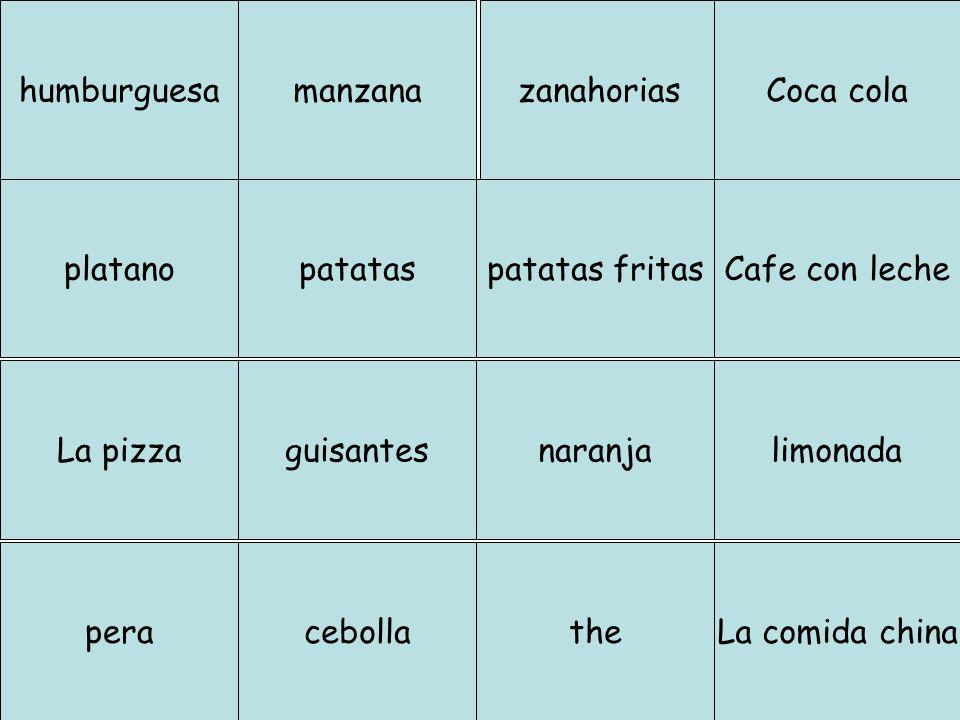 En el restaurante… El cliente dice… (match up) Tengo hambre.