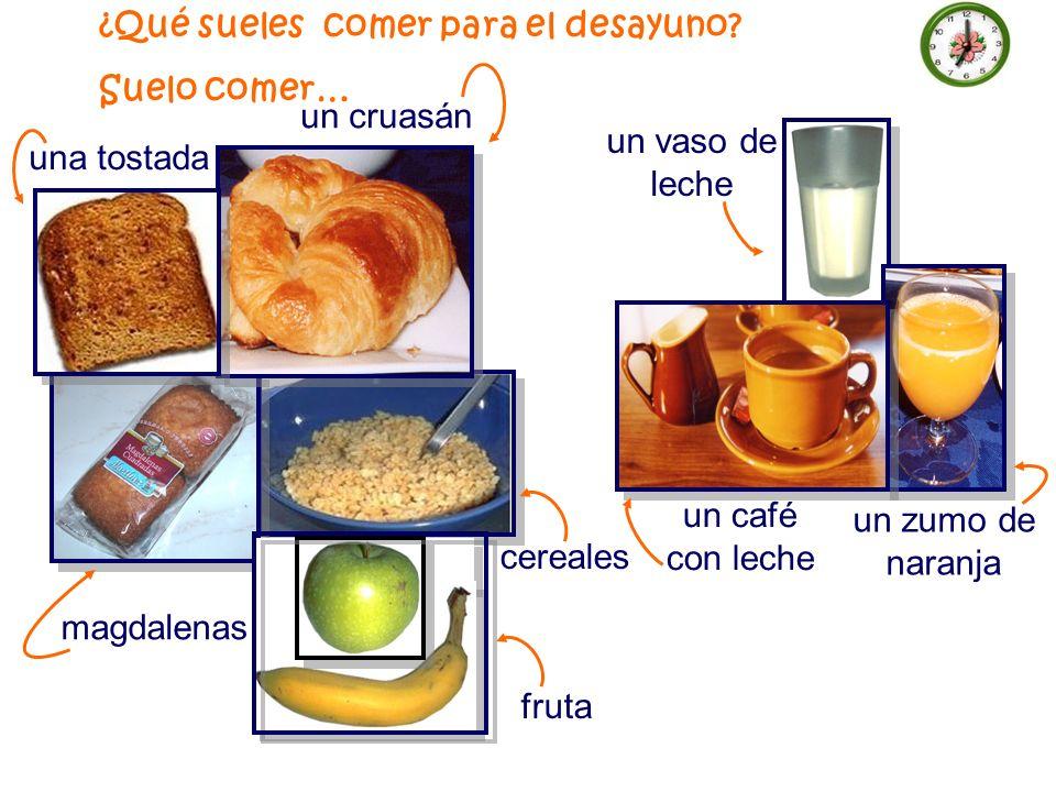 ¿Qué sueles comer para el desayuno.