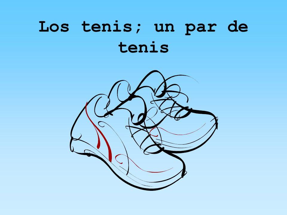 Los tenis; un par de tenis